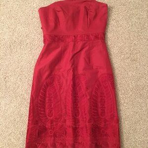 Beautiful Strapless Ann Taylor red dress 💃🏼
